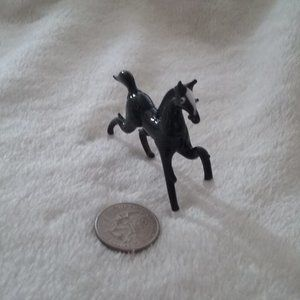 Vintage Micro Handmade Glass Sculpture Horse
